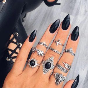 RINGOLOGY - 9 PCS/SET BOHEMIAN RINGS